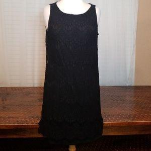 Sz 6 Tiana B. Black Lace Dress